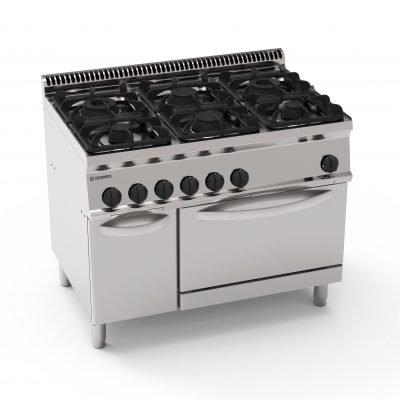 tecnoinox pf105gg7 6 ring cooker range tecno70 nat ihce ltd