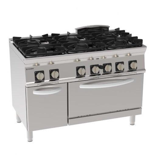 tecnoinox pfg12gg7 1200 wide 6 ring cooker nat ihce ltd